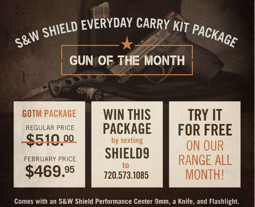 February 2018 Gun of the Month: S&W Shield Everyday Carry Kit Package