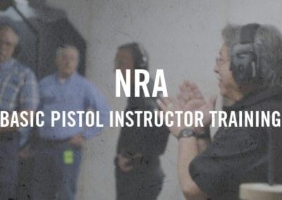 NRA Basic Pistol Instructor Training